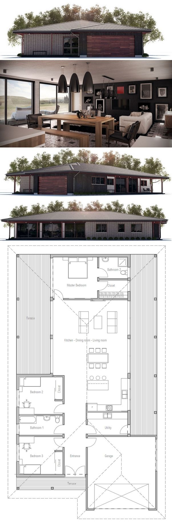 House Plan, Modern Home, Floor Plan from ConceptHome.com