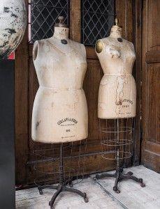 Originele mannequins, paspoppen op wieltjes van Bauman New York - 1900-1930 - Original Bauman mannequins dating from 1900-1930 - # WoonTheater