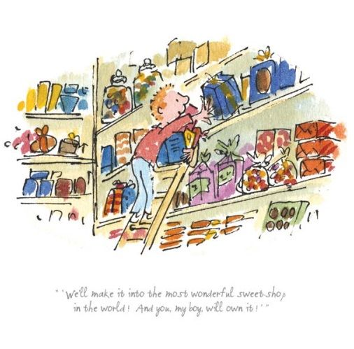 Roald Dahl The Most Wonderful Sweet Shop Limited Edition Print l Contemporary Art