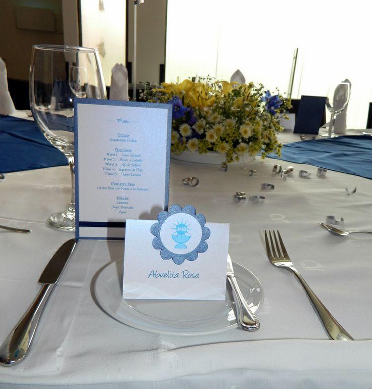 Tarjeta menu y agradecimientos http://www.facebook.com/crpentinas