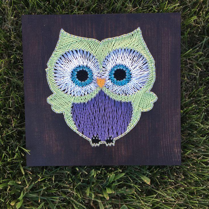 Owl - String Art.  By Sirena Johnson.