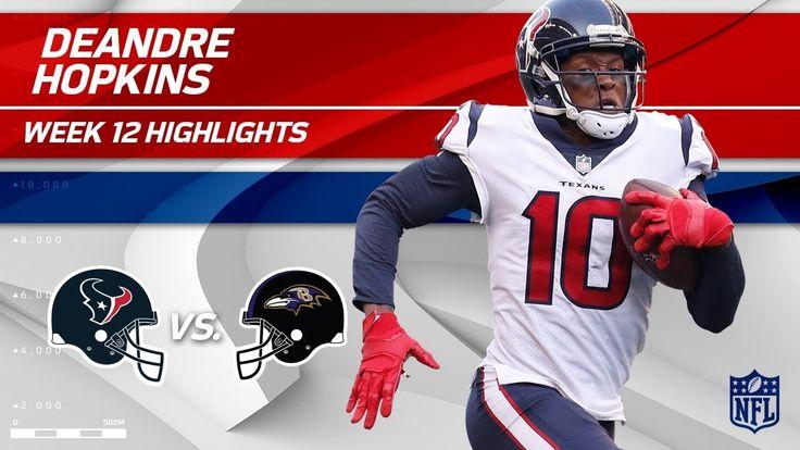 DeAndre Hopkins' Huge Game w/ 7 Grabs & 125 Yds vs. Baltimore   Texans v...