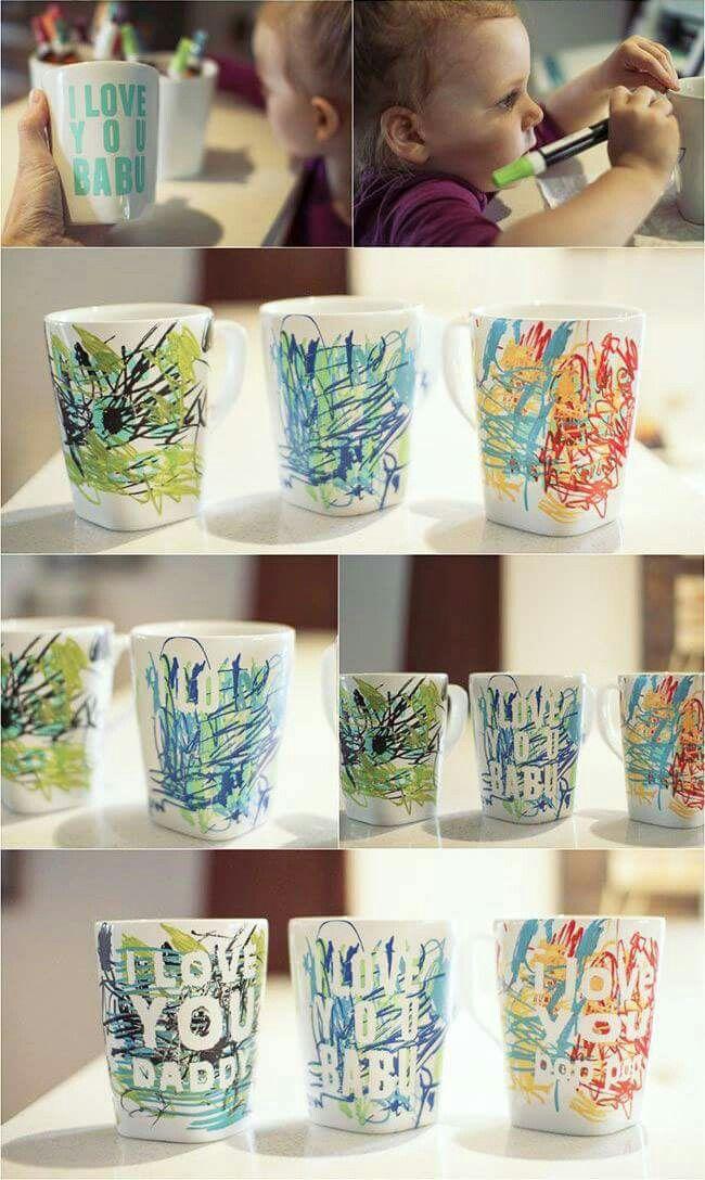 diy geschenkidee tassen keramik bemalen und diy geschenke. Black Bedroom Furniture Sets. Home Design Ideas
