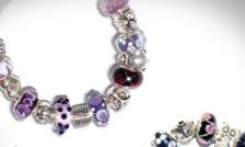 $24 for a Via Allegro Silver Charm Bracelet (8 Colours to Choose From!) - Taxes and Shipping Included ($ 89 Value)
