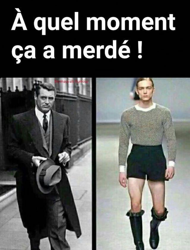 Evolution de la mode. De Cary Grand à nos jours
