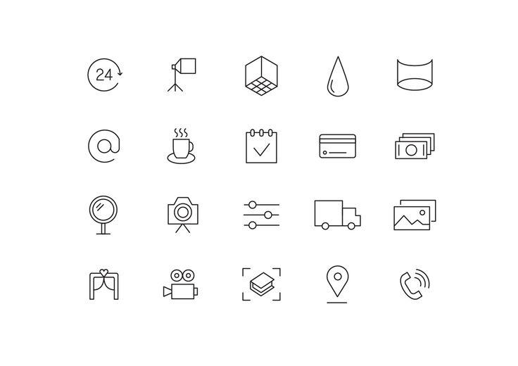 """Icons """"Photo studio"""""""