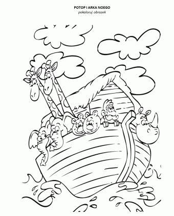Potop i arka Noego – kolorowanka – Moja Biblia