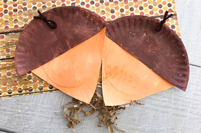 Our Paper Plate Acorn Craft for Kids is the perfect project to make during a...