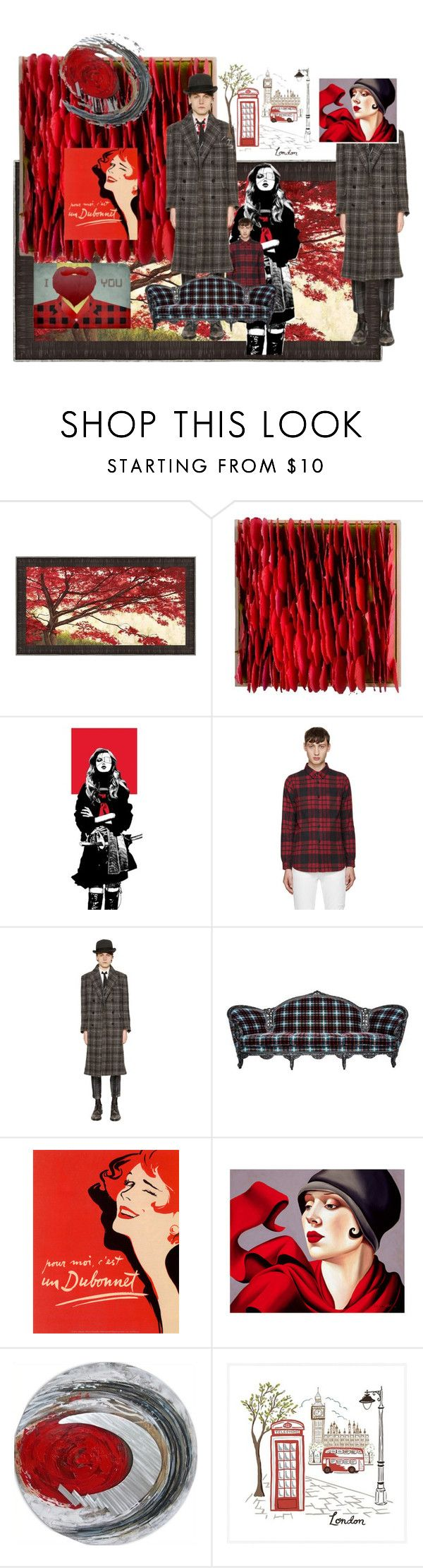 """""""Untitled #1447"""" by bethonepage ❤ liked on Polyvore featuring John Elliott, Thom Browne, Jean-Paul Gaultier, Yosemite Home Décor, Pottery Barn, Monde Mosaic, men's fashion, menswear, plaid and WardrobeStaples"""