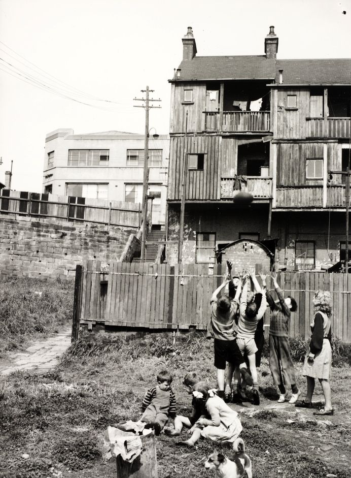 Children playing in Frog Hollow, Surry Hills, Sydney  1949