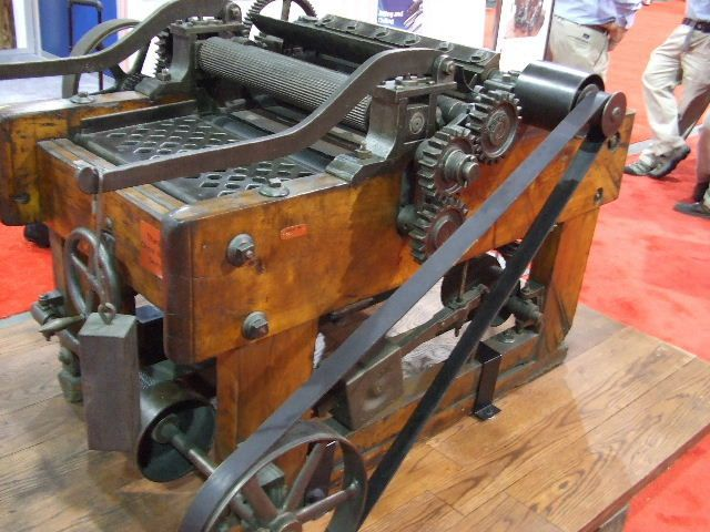 Whitney Planer, a really old an classic woodworking machine.