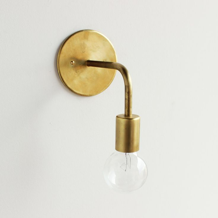 Image of All brass wall sconce