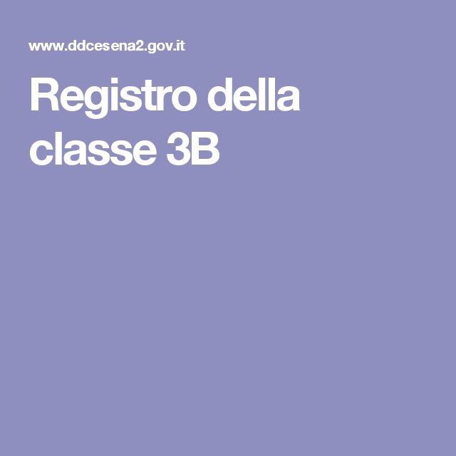 Registro della classe 3B