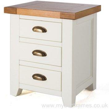 Chic White Oak Bedside Table #BedroomDesign