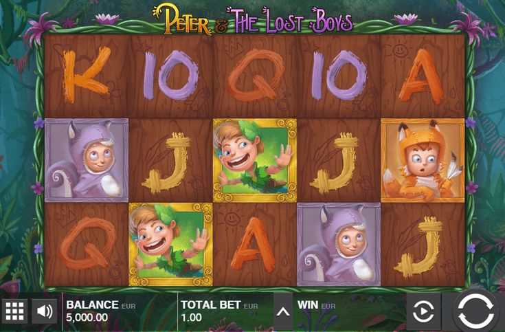 Peter and the Lost Boys - http://www.777free-slots.com/peter-and-the-lost-boys-free-online-slot/