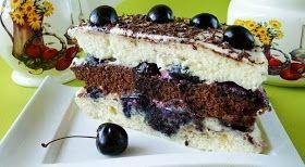 Самые вкусные рецепты: Бисквитный торт со сметанным кремом и вишней