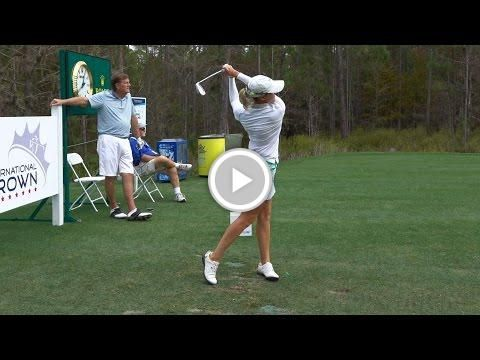 SARAH JANE SMITH 120fps SLOW MOTION FACE-ON IRON GOLF SWING CME GROUP TOUR CHAMPIONSHIP 2016