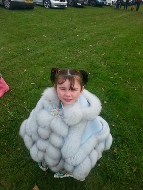 Ice fur coat made snow fur cold