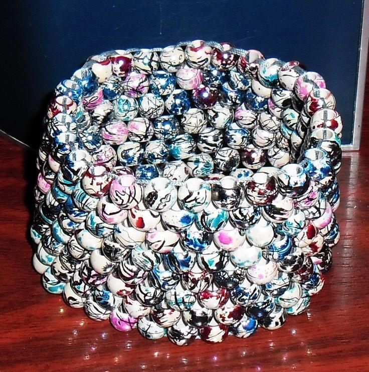 wide 10 mm beads bracelet