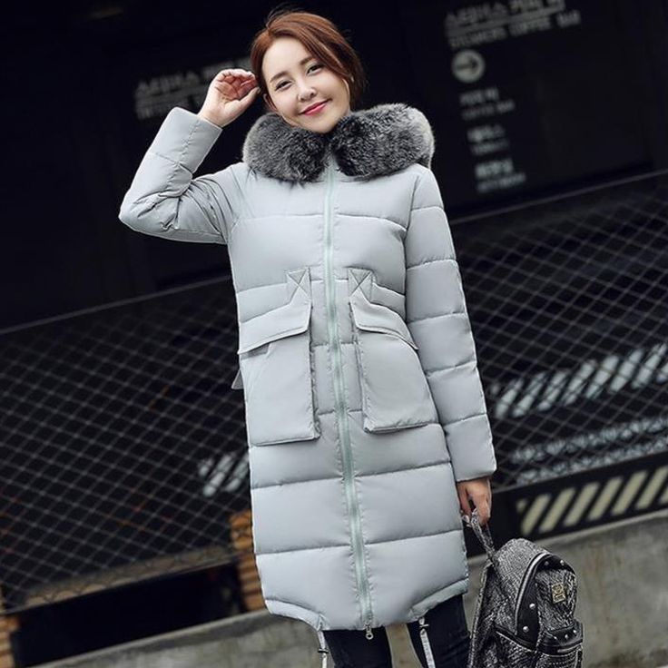 49.79$  Buy here - http://alipu6.worldwells.pw/go.php?t=32705617471 - Womens Down Coats and Jackets Brand Parka Female Thick Down Jacket Coat Real Fox Fur Collar Hooded Women's Slim Winter Outwear