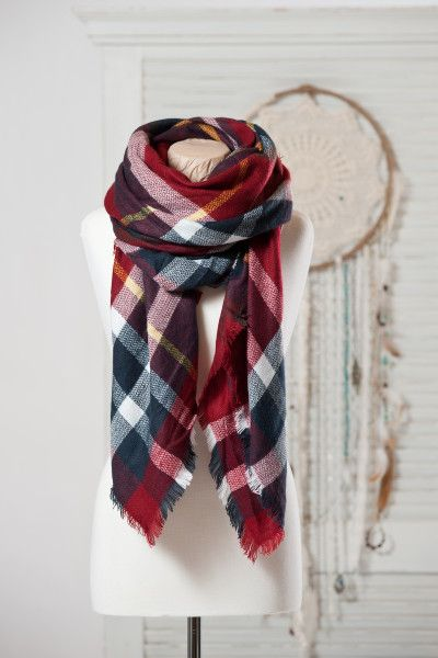 Jackson Rowe Scout Blanket scarf - crimson