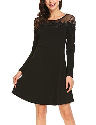 Festliche kleider langarm schwarz