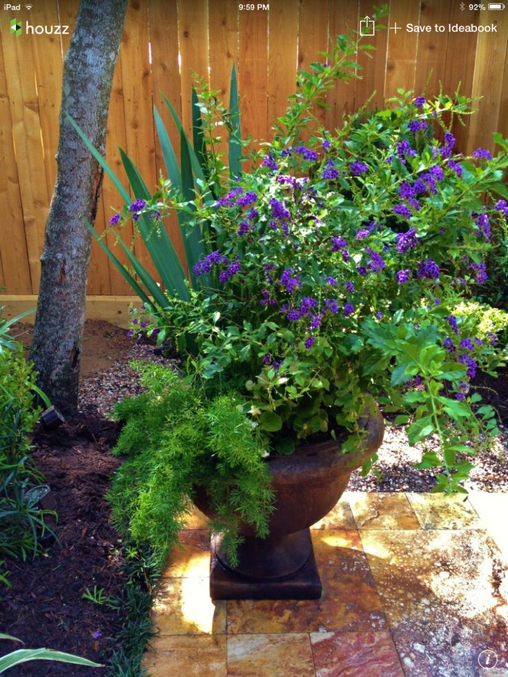 Flower pot arrangement outdoors pinterest flower for Garden arrangement