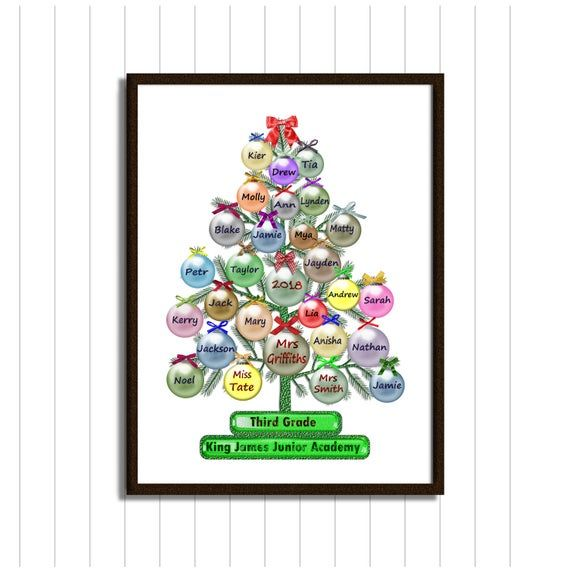 Hey I Found This Really Awesome Etsy Listing At Https Www Etsy Com Il En Lis Personalised Christmas Baubles Christmas Tree Printable Teacher Christmas Gifts