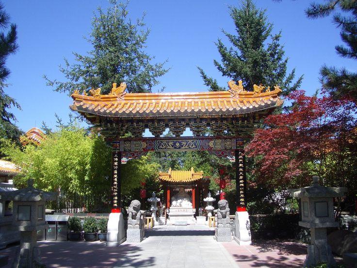 Entrance to the International Buddhist Society, located in 9160 Steveston Hwy Richmond, BC V7A 1M5