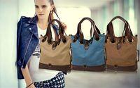 Women Canvas Bucket Bags Casual Crossbody Bags Large Capacity Bags Shoulder Bags