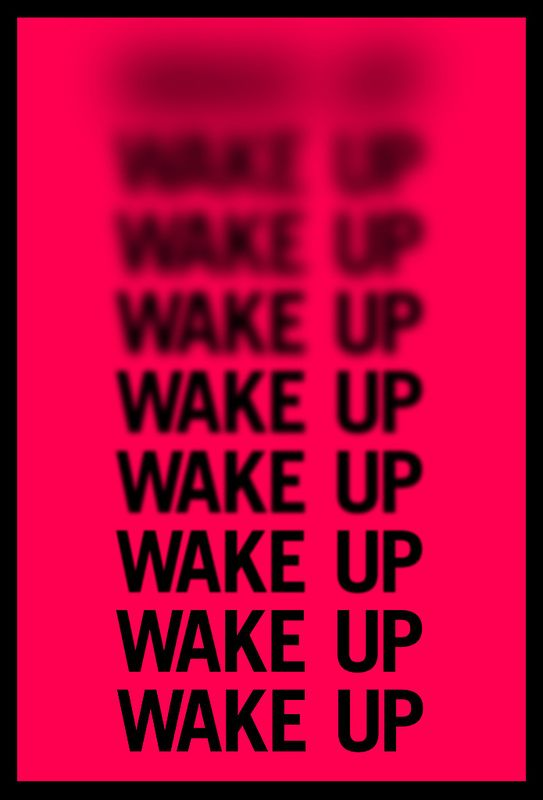 "Typographic ""Sleep"" Posters by Jane Gardner, via Behance"