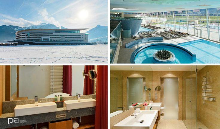 Buena Vida  El Tauern Spa en Austria es un resort de lujo para el cuidado del cuerpo. Un lugar único que combina una hermosa vista y todo lo necesario para la relajación. Esta gran obra arquitectónica cuenta en sus baños con la línea Living de Laufen.   Laufen exclusivo en Productos Arquitectónicos