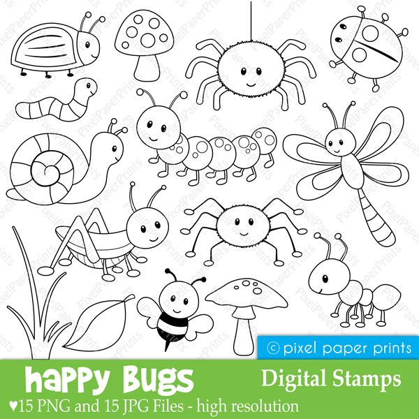 Jungle Friends - Digital stamps - Clipart
