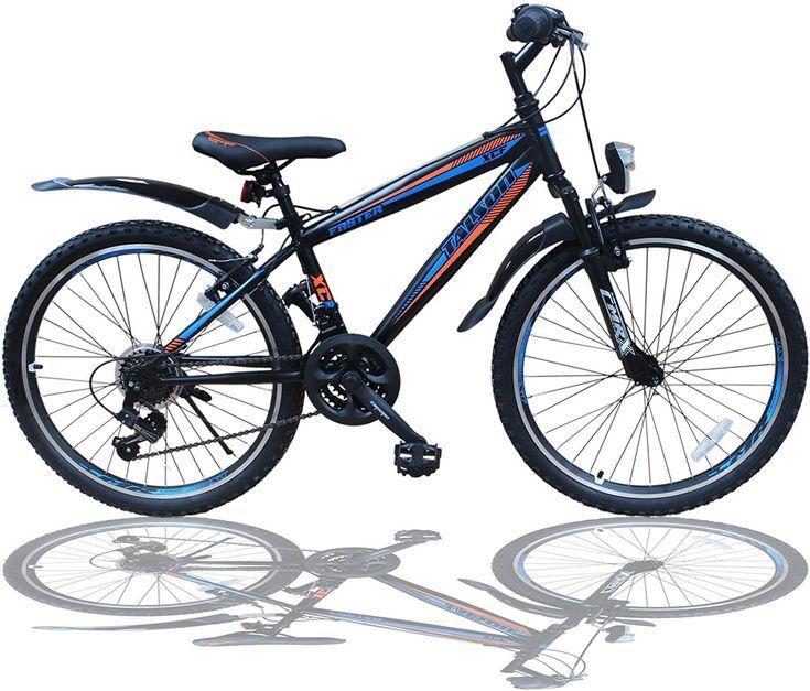 Talson 24 Zoll Mountainbike Fahrrad Mit Gabelfederung Beleuchtung 21 Gang Shimano Faster Bbo 24 Zoll Mountainbi 20 Zoll Fahrrad Kinderfahrrad Kinder Fahrrad