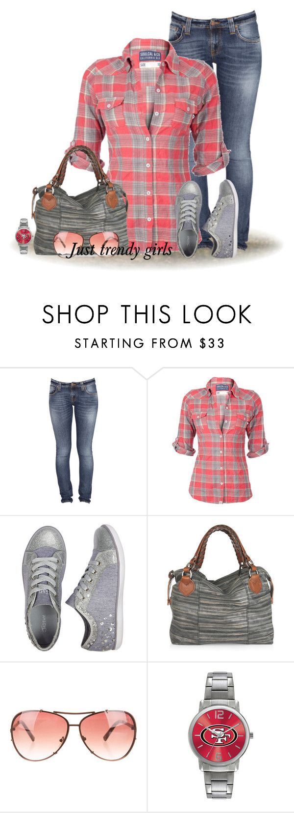 """plaid shirt"" by justtrendygirls ❤ liked on Polyvore featuring Nudie Jeans Co., Soul Cal, Pauric Sweeney, Michael Kors and Game Time"