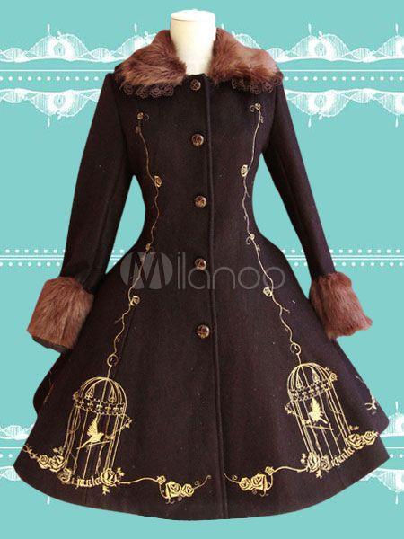 Gorgeous Uniform Cloth Lace Lolita Outercoats For Women $177.99 AT vintagedancer.com