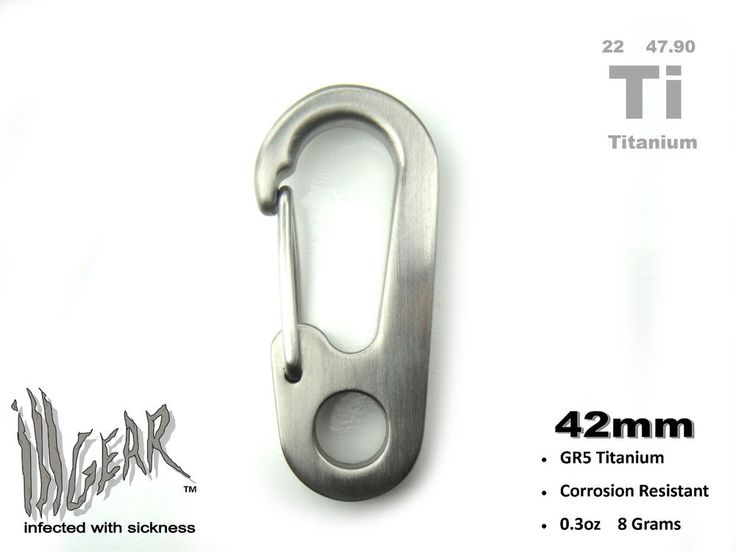ill Gear Titanium Spring Clip 42mm Tall Ti Snap EDC Backpack Tactical Survival