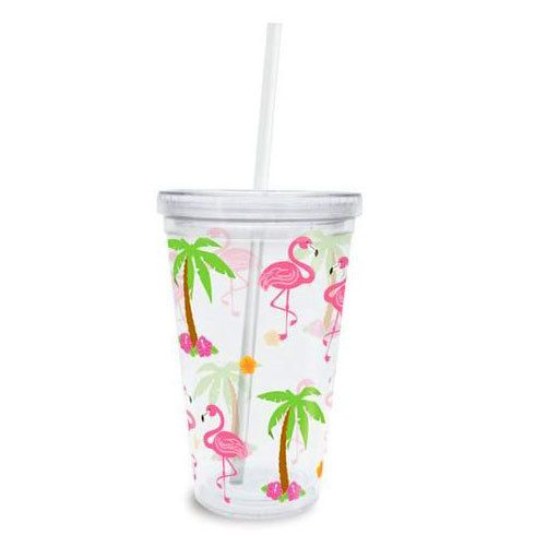 TropicalBreezeDecor - Pink Flamingo Palm Trees Insulated Plastic Tumbler Lid Straw - 814-89, $10.49 (http://tropicalbreezedecor.com/pink-flamingo-palm-trees-insulated-plastic-tumbler-lid-straw-814-89/)