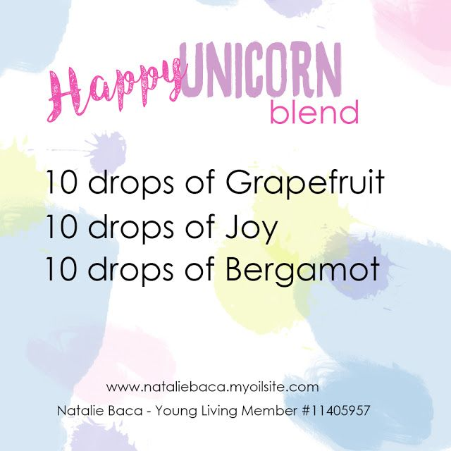 Natalie Baca: Happy Unicorn Blend, Young Living, essential oils, blends, rollerball