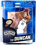 Tim Duncan Manufacturer: McFarlane Toys Series: NBA Basketball Sportspicks Series 24 Action Figures Release Date: February 2014 For ages: 4 and up UPC: 640213885911 Details (Description): NBA 24 infuses some new teams and players into the lineup, while bringing back a few McFarlane SportsPicks veterans.  This six-figure lineup includes new poses for LeBron James, Derrick Rose, and the return of Tim Duncan (last seen in NBA 6) and Paul Pierce (returning from NBA 13).  This lineup also ...