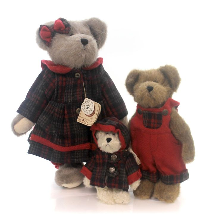 Boyds Bears Plush Bearsleys - Juniper, Joel,Jean Teddy Bear Height: 14 Inches Material: Fabric Type: Teddy Bear Brand: Boyds Bears Plush Item Number: Boyds Bears Plush 919810S Catalog ID: 28924 New. S