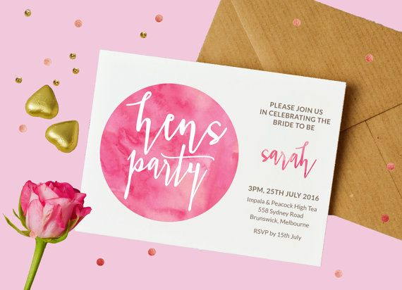 Hens night invitation Hens invitations Hens by ThePrintableShopcom