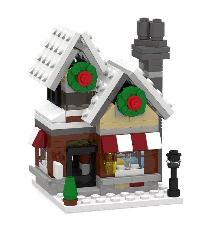 https://flic.kr/p/B3jtV4 | Lego Winter Village Toy Shop (10199) mini modular | Winter Village Toy Shop mini version. Total 204 parts. designed by play.