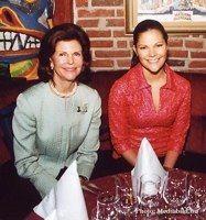 Drottning Silvia och Viktoria, Wallmans salonger.