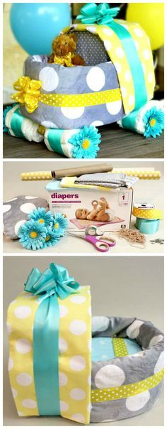 How to Make a Baby Carriage Diaper Cake