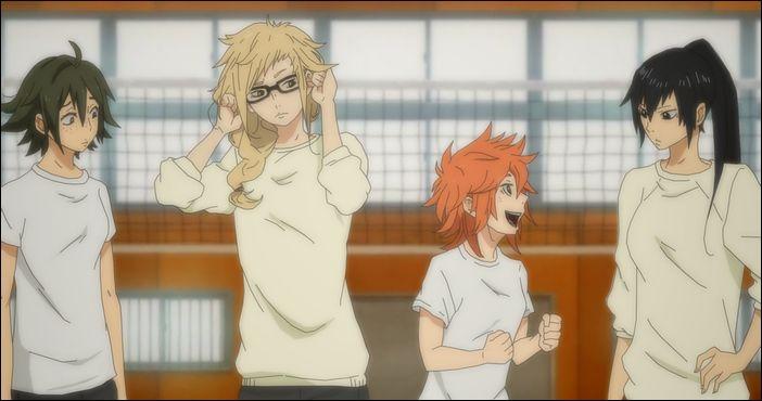 Hakyuu!! - Yamaguchi, Tsukishima, Shouyou and Kageyama - Genderbent