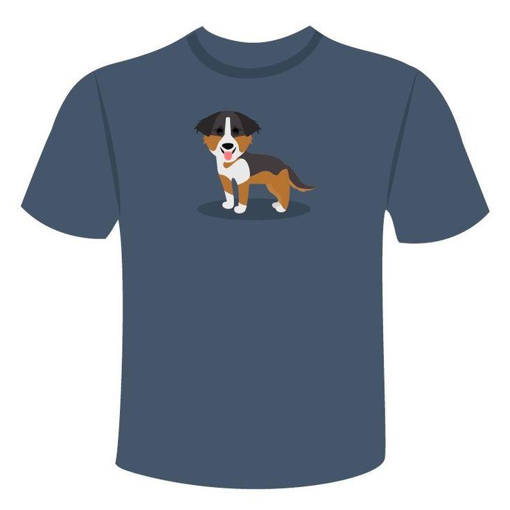 Sabemos que te apasionan los perrosos Pastor Ovejero australiana y por eso te ofrecemos su camiseta a elegir entre varios colores y tallas.