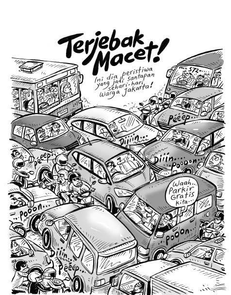 Kartun Benny, Tiga Manula: Terjebak Macet
