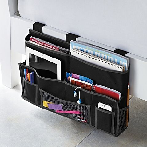 Ideal for a dorm room that is too small, the Studio 3B Bedside Caddy will save you some much needed space. This storage caddy features 5 pockets designed to hold bulky items and smaller pockets that will secure your small items at an arm's reach.