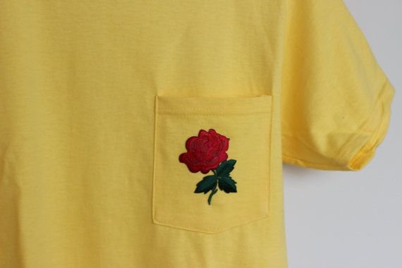 Rose Patch T-shirt by InspireClothingUSA on Etsy